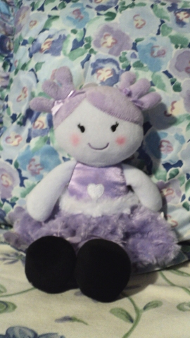 """12""""H Dolly Friend $14.50 She will tuck away in any place or space."""