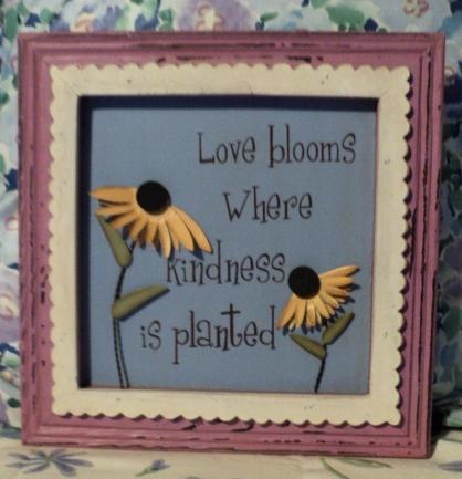 "10""x10"" ""Love Blooms"" $29.50 Soft Lavender Boarder"