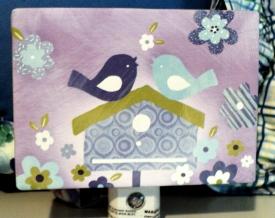 Bird House Night Light $19.50 This might help your precious sleepy head SLEEP!