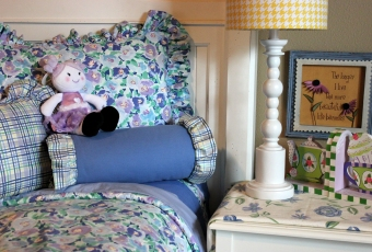 Twin Duvet Cover & Ruffled Posie Sham $180.00 This Loved Before set brings you that custom design, Beautiful Colors to brighten your girl's room.