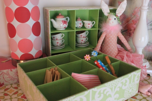 Green Treasure Box $24.50 Use it as a tray or upright as a mini shelf to store all those favorite treasures!