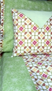 "3 Piece ""Margaret"" Collection Twin Duvet Cover, Fancy Pillow Case, 14' Throw Pillows $389.00"