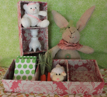 "13""x5"" Rosey Pink Mini Treasure Tray $15.50 Perfect storage for all those little treasures."