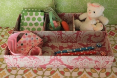 "9""x13"" Rosey Pink Treasure Tray $19.00 Sweet storage for all things tiny!"