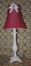 "25""H Rosey Pink Lamp $199.00 Bringing light, cheer, and a touch of sparkle to your child's room."