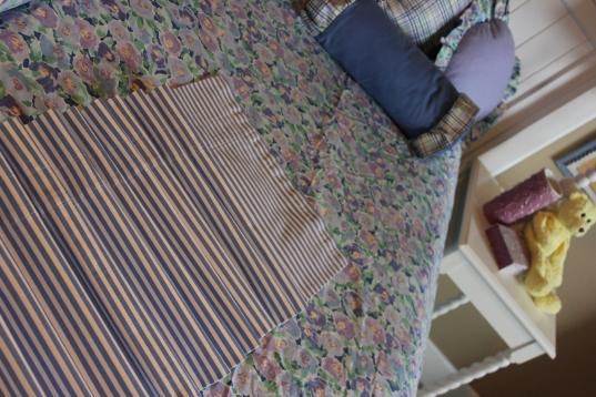 "82""W Blue Striped Valance $129.00"