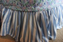 Twin Striped Blue Dustruffle $149.00
