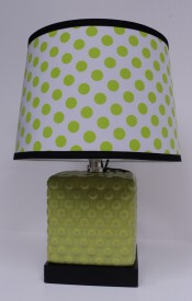 Lime Polka Lamp $59.50