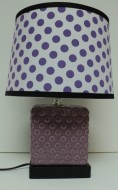Purple Polka Lamp $59.50