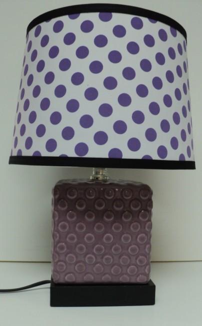 Purple Polka Lamp $59.50
