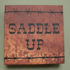 "6""sqr. Saddle Up Picture $19.50"