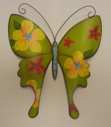 "13""High Green Metal Wall Butterfly $19.50"