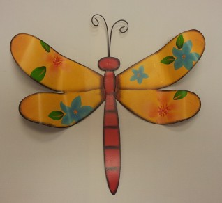 "13""H Yellow Dragon-Fly Metal Art $19.50"