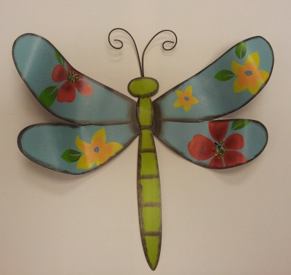"13""H Blue Dragon-Fly Metal Art $19.50"