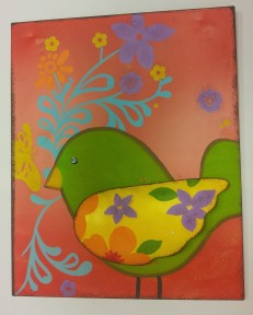 "15""x20"" Green Bird Medal Wall Art $39.00"