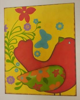 """15""""x20"""" Red Bird Medal Wall Art $39.00"""