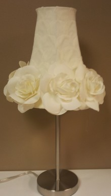 "20""H Ivory Rose Lamp $119.00"