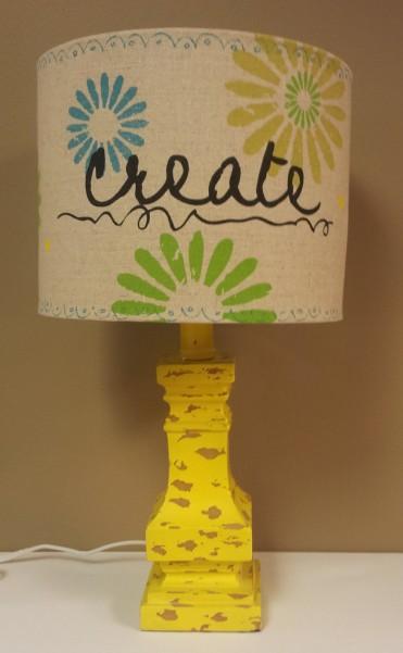 Blue, Yellow Kids Room, Lamp