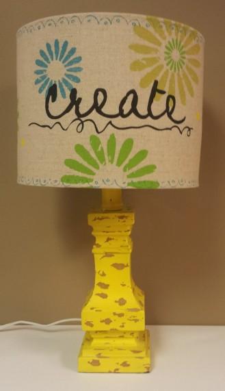 16 1/2″H Create Lamp $69.00