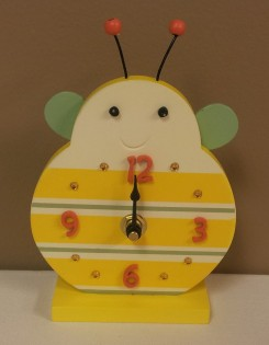 """6 1/2""""H Buzzy Bee Clock $14.50 Click here to BUY"""