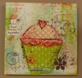 """9""""sqr. """"Cupcake"""" Metal Art $21.50"""
