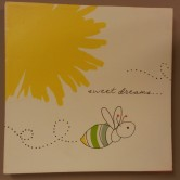 """12""""sqr. Sweet Dreams Buzzy Bee Picture $19.50 Click here to BUY"""