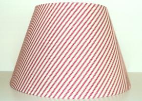 """9 1/2""""Hx14""""W Red Striped Shade $39.00 No Harp Attachment"""
