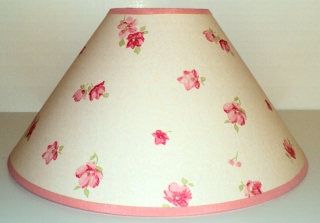 Vintage Rose Lamp Shade 7:Hx12:W $39.00 No Harp Attachment