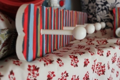 """24""""x4"""" 4 peg Striped Wall Rack $69.50 Handmade just for you"""