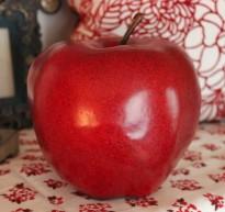 "6""H Big Red Apple $21.50 Sweet!"