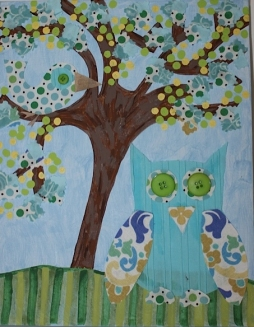 Owl Art, Kids Room, Girls Room