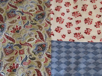 """""""Emma"""" inspired by these fabrics."""