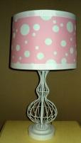 "26""H Pink Polka Dot Lamp $198.00"