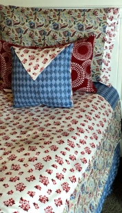 """3 Pc. Twin Duvet Set $389.00 3 Pc. Full Duvet Set $489.00 ( Set includes: Duvet Cover, 1-Pillowcase, 14"""" Envelope Pillow (Red Burst Pillow $89.00)"""