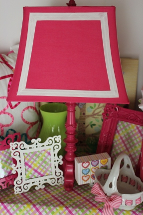 Hot Pinky Squared Lamp $198.00 Accented with cute accessories, sold separately