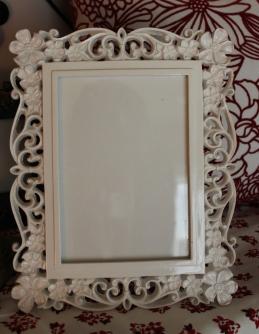 """5""""x7"""" White Floral Frame $39.00"""
