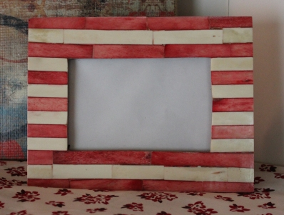 "4""x6"" Red Striped Frame $19.50"
