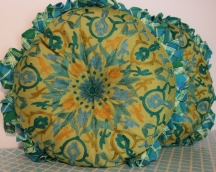 Blue Green Kids Room Pillow