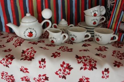 13 piece Lade Bug Mini Tea Set $29.50 Tea for you and tea for me.