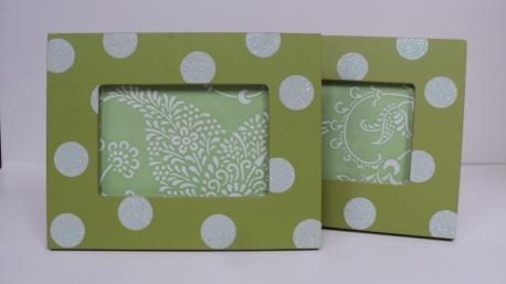 Green Polka Dot Frame $19.50 each 3x5