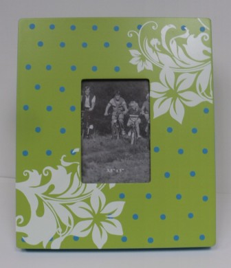 Lime Green Floral Frame $19.50 3x5