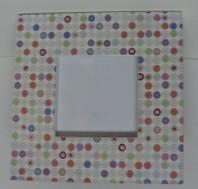 "Cirlces Color Burst Frame 3""x3"" $19.50"