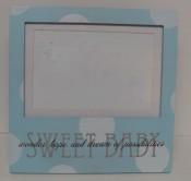 "Baby Blue Polka Dot 4'x6"" $19.50"
