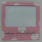 "Baby Pink Polka Dot 4""x6"" $19.50"