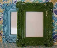 """5""""x7"""" Lacquered Frame $39.00 each In Aqua or Green, this frame is charming and sophisticated."""