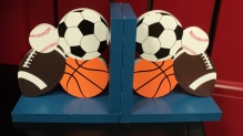 Sports Bookends $29.50