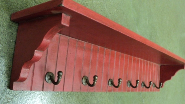 "24"" Wide Red Wall Shelf $89.00"