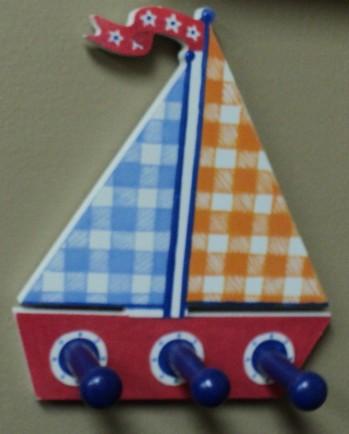 "8""H Sailboat Peg Rack $19.50"