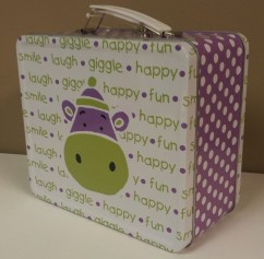 Purple Hippo Lunchbox $11.50