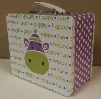 Purple Hippo Lunchbox $11.50